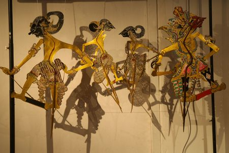 wayang: Shadow puppet Stock Photo
