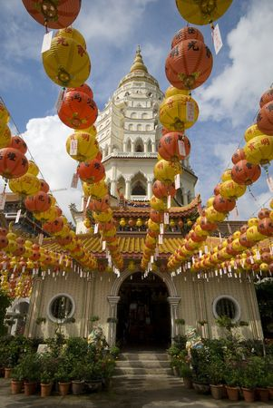 Hundreds of lantern in Kek Lok Si Temple Penang Malaysia