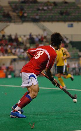 winger: field hockey in action