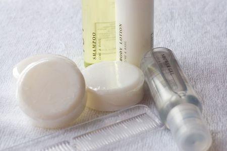 art�culos de perfumer�a: art�culos de tocador  Foto de archivo