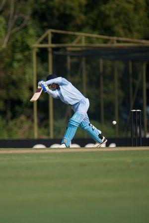 icc: Batsman hitting cricket ball at tournament
