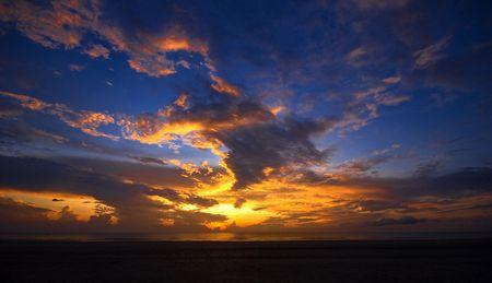 Dramatic sunrise in Pahang, Malaysia. photo