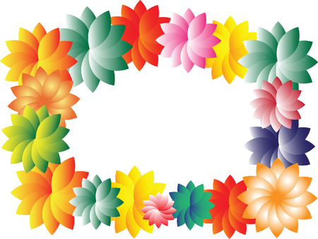 Vector image framing with flowers Vector