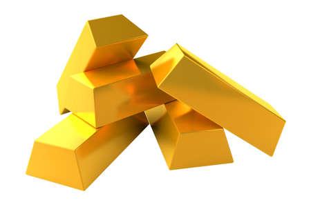 gold bars: gold bars on white background