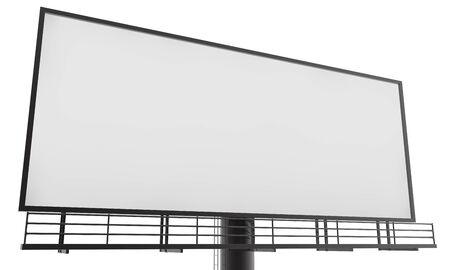 Blank billboard ready for new advertisement 3d render on white background Stockfoto