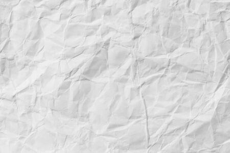 Fondo di struttura del foglio di carta stropicciato bianco