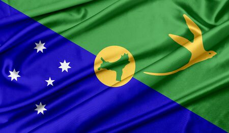 Christmas Island flag Reklamní fotografie