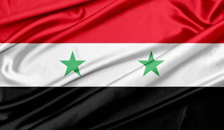 Flag of Syria Stockfoto