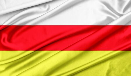Flag of North Ossetia Standard-Bild