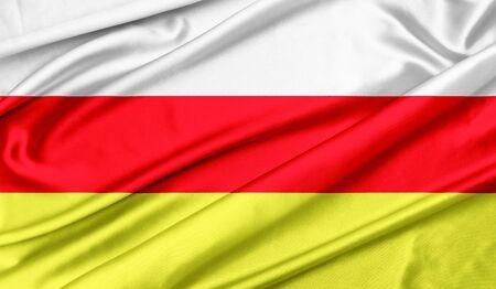 Flag of North Ossetia Stock fotó