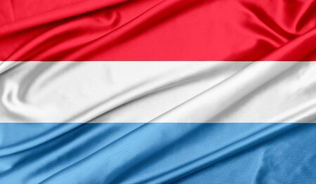 Flag of Luxembourg Stockfoto