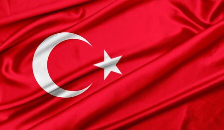 Turkey flag Banque d'images