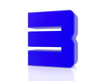blue number 3 on white background 3d rendering Stock Photo