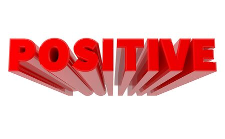 3D POSITIVE word on white background 3d rendering 写真素材