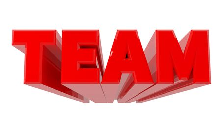 3D TEAM word on white background 3d rendering
