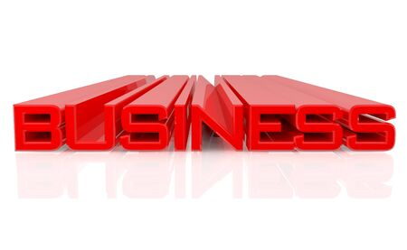 3D BUSINESS word on white background 3d rendering