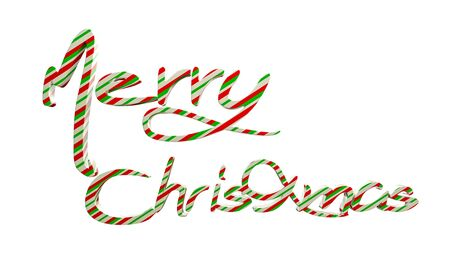 Beautiful text of Merry Christmas on white background. 3d rendering