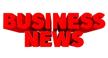 3D BUSINESS NEWS word on white background 3d rendering Фото со стока