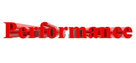3D Performance word on white background 3d rendering 写真素材