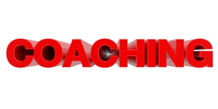 COACHING word on white background 3d rendering Stok Fotoğraf