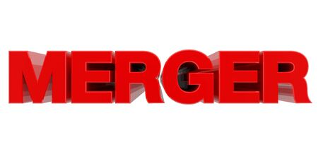 MERGER word on white background 3d rendering