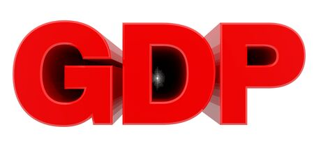 GDP word on white background 3d rendering Banco de Imagens