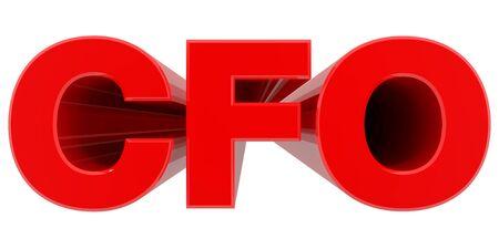 CFO word on white background 3d rendering Stock fotó