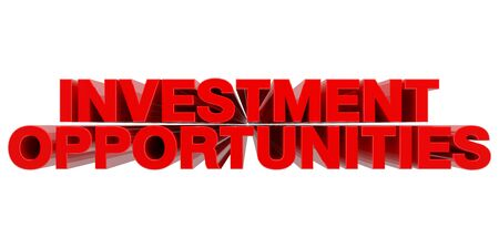 INVESTMENT OPPORTUNITIES word on white background 3d rendering