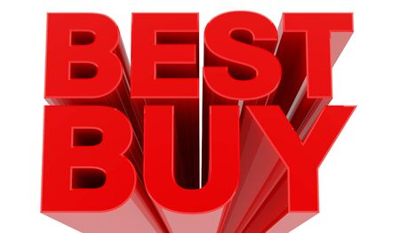 BEST BUY word on white background 3d rendering