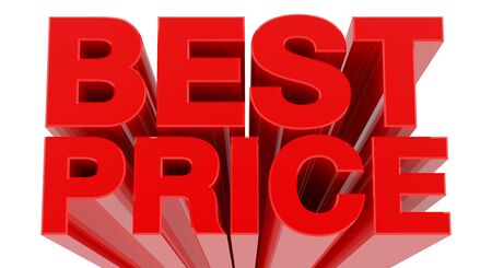 BEST SALE word on white background 3d rendering