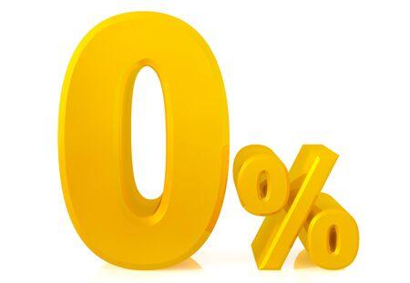zero percent gold 3d rendering