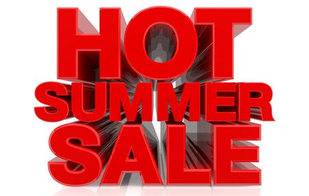 HOT SUMMER SALE word on white background 3d rendering