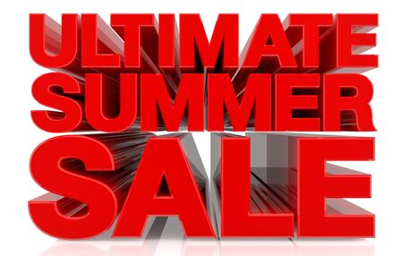 ULTIMATE SUMMER SALE word on white background 3d rendering
