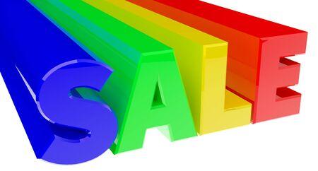 3D SALE word 3d rendering Stock Photo