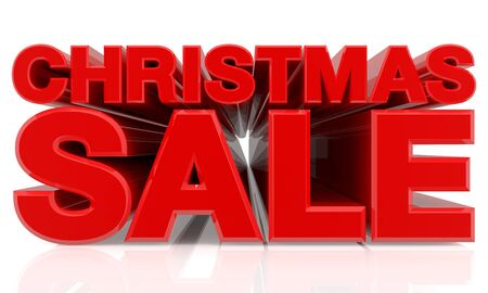 CHRISTMAS SALE word on white background 3d rendering Standard-Bild - 131483350