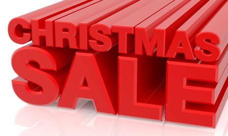 CHRISTMAS SALE word on white background 3d rendering
