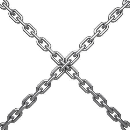 Chain isolated on white background,with clipping path 3d rendering Imagens