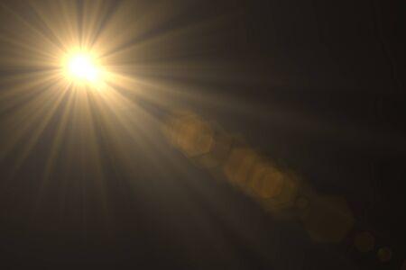 Lens flare light on back background. Stockfoto