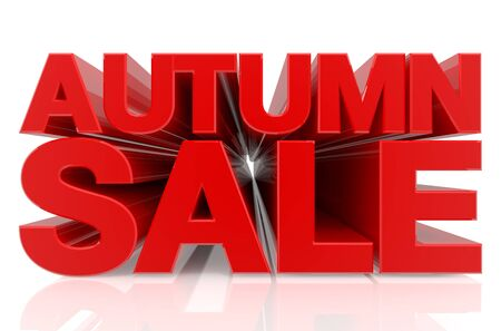 AUTUMN SALE word on white background 3d rendering Stock Photo