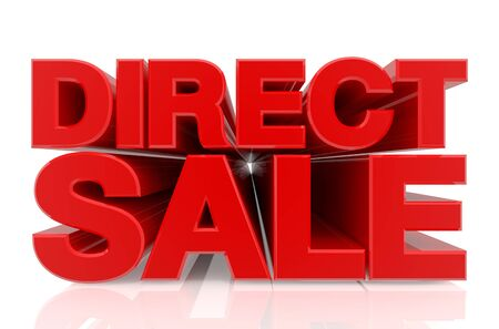 DIRECT SALE word on white background 3d rendering