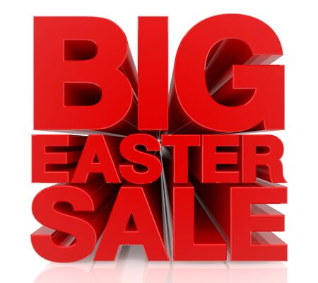 BIG EASTER SALE word on white background 3d rendering Reklamní fotografie