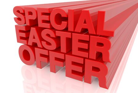 SPECIAL EASTER OFFER word on white background 3d rendering