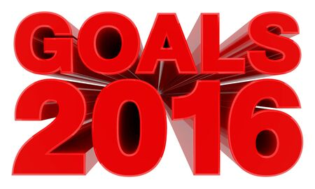 GOALS 2016 word on white background 3d rendering