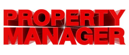 PROPERTY MANAGER word on white background 3d rendering