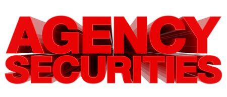 AGENCY SECURITIES word on white background 3d rendering
