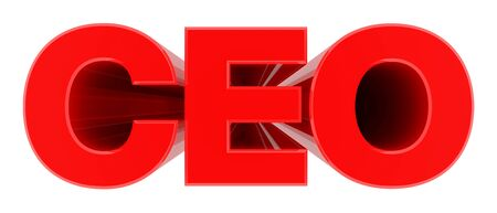 CEO word on white background 3d rendering Stock Photo