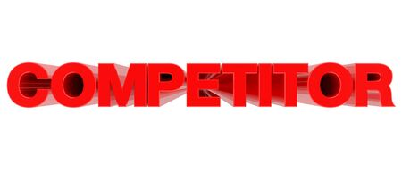 COMPETITOR word on white background 3d rendering