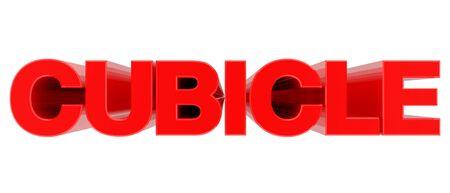 CUBICLE word on white background 3d rendering 版權商用圖片