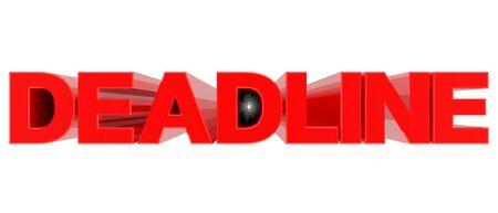 DEADLINE word on white background 3d rendering Stock Photo