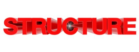 STRUCTURE word on white background illustration 3D rendering